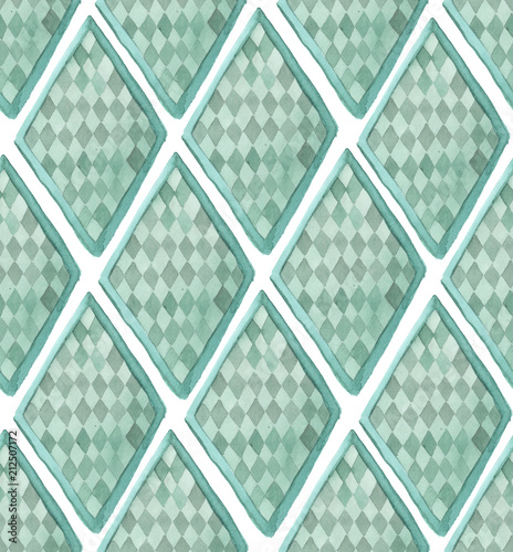 wzor-z-jasnozielonymi-rombami