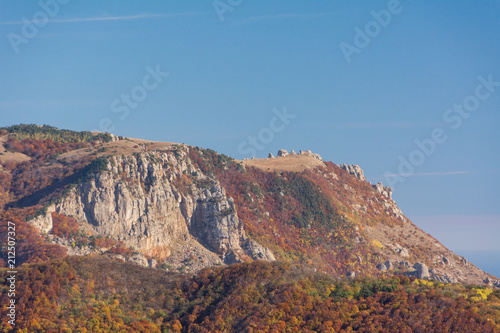 Tuinposter Zalm Mountain range Demerdzhi, the Republic of Crimea.