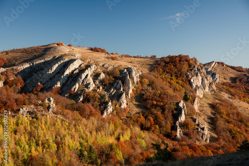 Keuken foto achterwand Blauwe jeans Mountain range Demerdzhi, the Republic of Crimea.