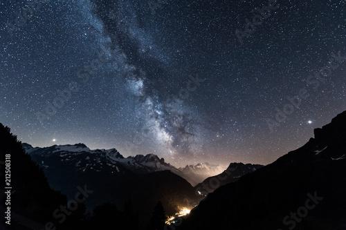 Papiers peints Bleu nuit ciel étoile à Chamonix