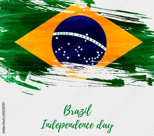 Brazil Independence day Fotobehang