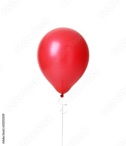 Image of single big red latex balloon for birthday party