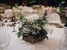 Centerpiece Of White Flowers A...