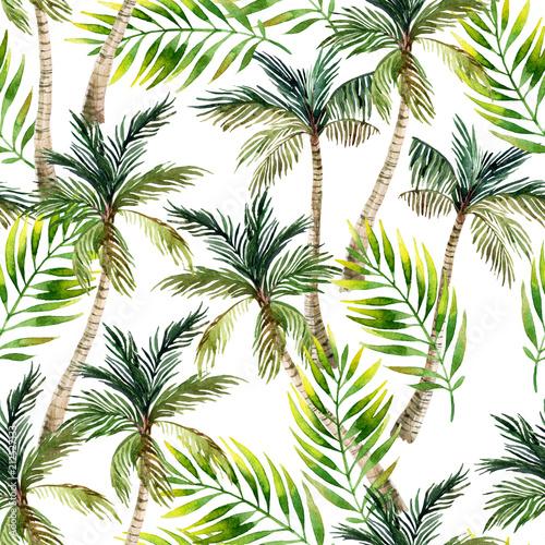 akwarela-palmy-i-lisci-wzor-tle-tropikalnej-dloni