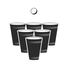 Beer Pong Icon. Vector. Isolat...