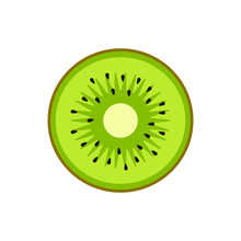 Kiwi Illustration. Vector. Fla...