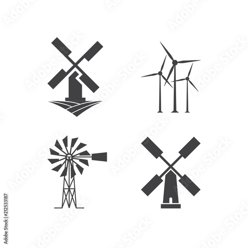 Fotografía Windmill logo design template