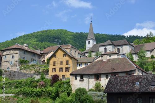 Village de Lods, dans le Doubs, France Canvas Print