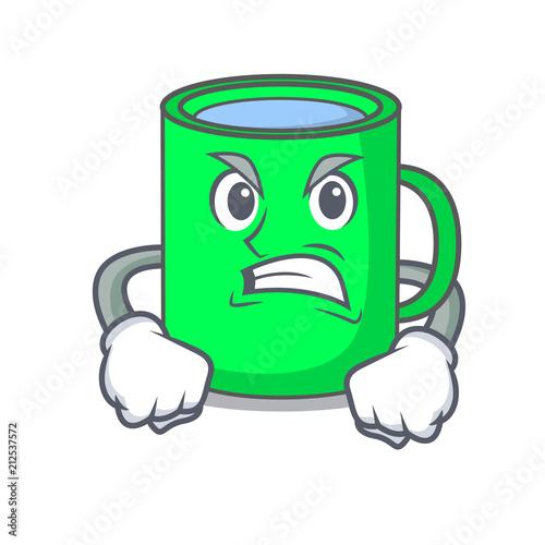 Photo Angry mug mascot cartoon style