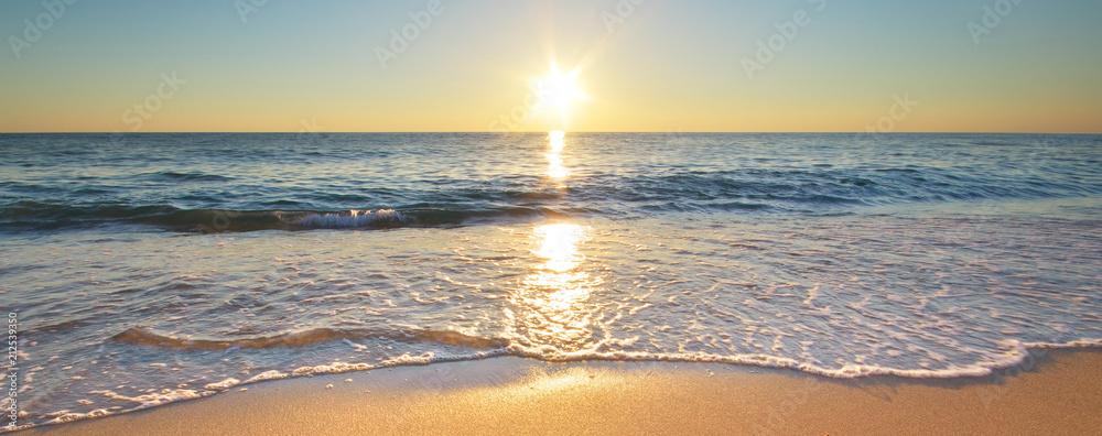 Fototapeta Beautiful summer beach shore