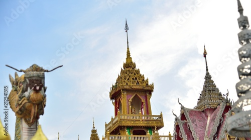 Foto op Plexiglas Bedehuis Wat Phratadruengrorng at Sisaket Province, Thailand. Beautiful Landmark of Thailand. landscape of the capital city
