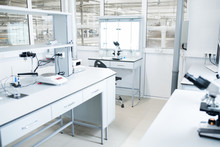 Interior Of Modern Science Lab...