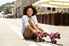 Roller-skating Lover. Pleasant...