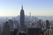 Ausblick auf Downtown Manhattan und Empire State Building vom Rockefeller Center, Manhattan, New York City, New York