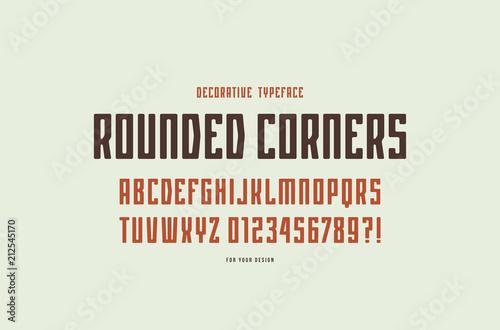 Fotografía  Decorative narrow sans serif font with rounded corners