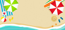 Summer Beach Banner Vector Ill...