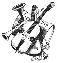 Musical Instruments #vector #isolated - Musikinstrumente