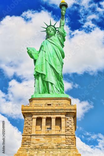 Spoed Foto op Canvas Verenigde Staten Statue of Liberty (Liberty Enlightening the world) near New York. Close-up. USA.