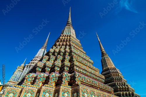 Tuinposter Bedehuis Wat Pho Buddhist temple in Bangkok