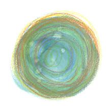 Teal Green And Yellow Circle P...