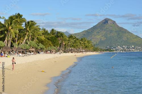 Fotografie, Obraz  Flic en Flac, beach in Mauritius