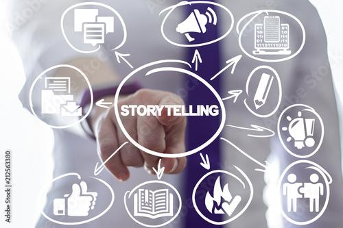 Fotografie, Obraz  Storytelling. Story Telling Business concept.