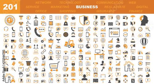 Fotografie, Obraz  Business & Office Icons - 201 Iconset