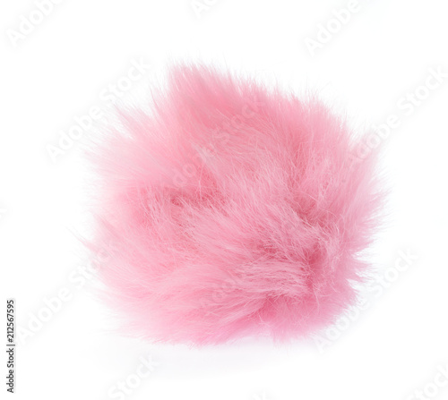 Fur ball isolated on white background Wall mural
