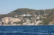 A view of the Amalfi Coast between Sorrento and Positano. Campania. Italy