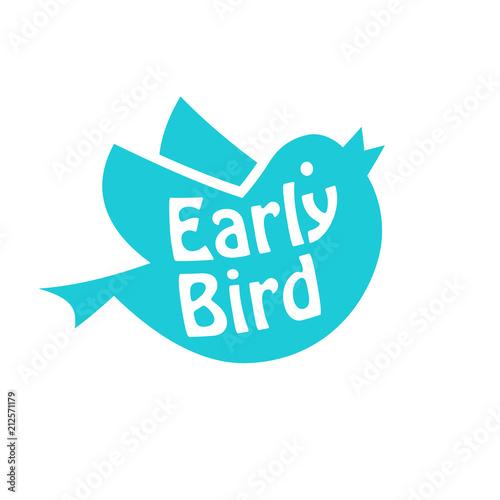 Photo  Early bird icon