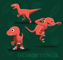 Dinosaur Deinonychus Cartoon V...
