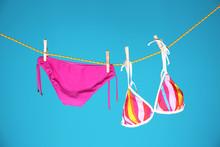 Beautiful Bikini Hanging On Ro...