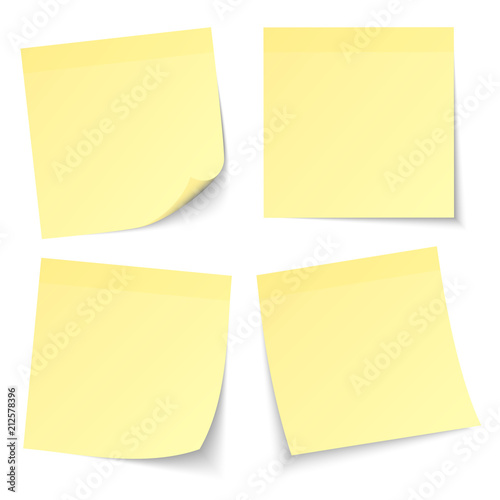 Stampa su Tela  4 Yellow Stick Notes