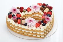 Heart Shaped Layer Cake Closeup