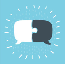 Communication With Speech Bubble.