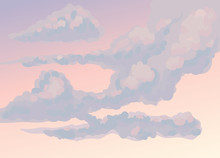 Clouds. Vector Drawing