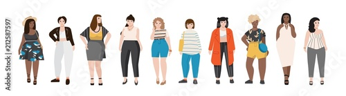 Fotografía Collection of plus size women dressed in stylish clothing