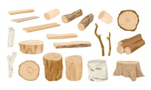 Collection Of Wooden Logs, Tre...