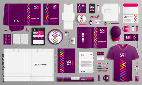 Fototapeta Stationery template design obraz