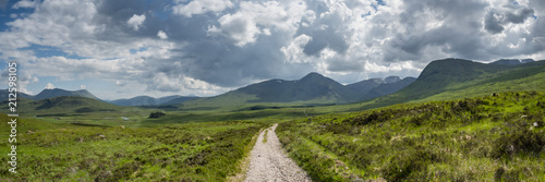 Foto op Canvas Bleke violet a view of the west highland way in the highlands of scotland during a bright summer day