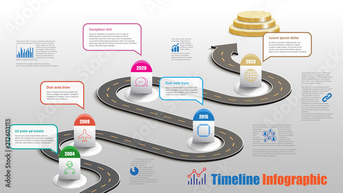 Fotomural Business road map timeline infographic milestone pathway to podium designed for modern diagram process technology digital marketing data presentation chart