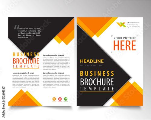 brochure geometric design template  flyer simple design