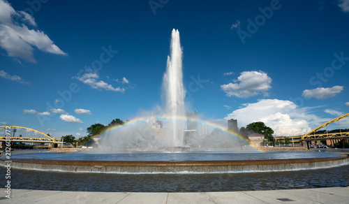 Point State Park Fountain in downtown Pittsburgh Wallpaper Mural