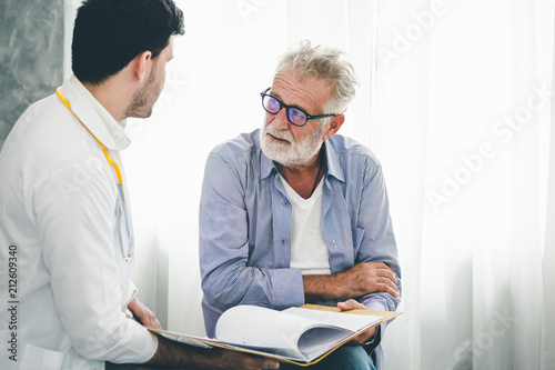 Psychologist doctor discussing with patient Poster Mural XXL