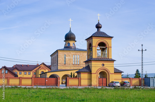 Foto op Canvas Historisch geb. Orthodox church in Zwierki, Poand