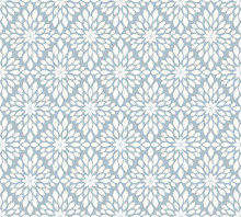 Seamless Grey And White Floral Wallpaper
