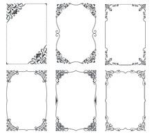 Floral Vintage Frames For Cards Design