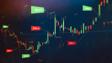 Futuristic Stock Exchange Scen...