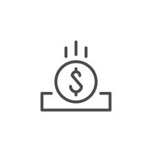 Coin Slot Line Icon