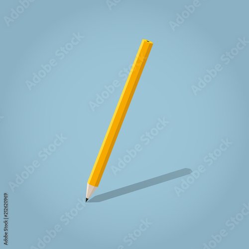 Isometric Writing Pencil Illustration Buy This Stock Vector And